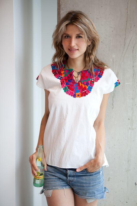 daf36542f Blusas bordadas estilo mexicano,blusas mexicanas bordadas de moda ...