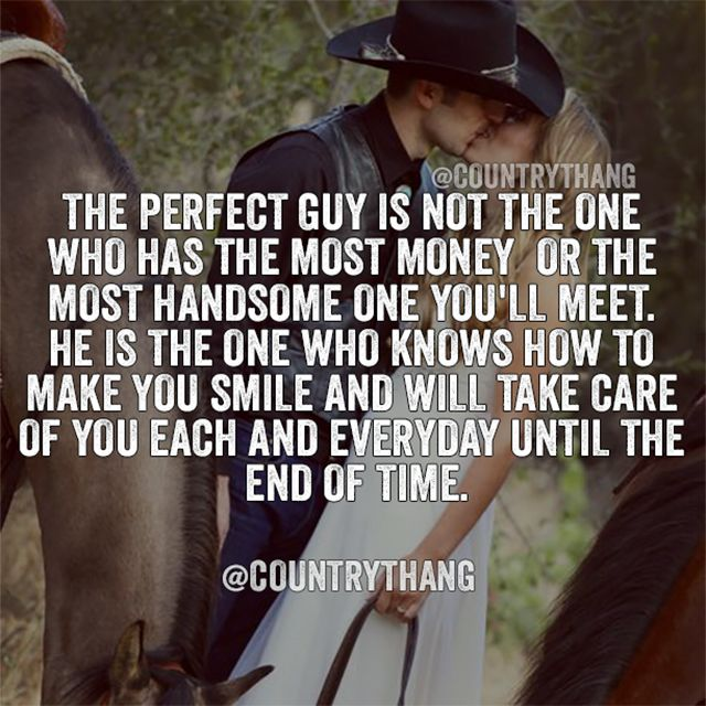 The perfect guy is not the one who has the most money or the most handsome one…