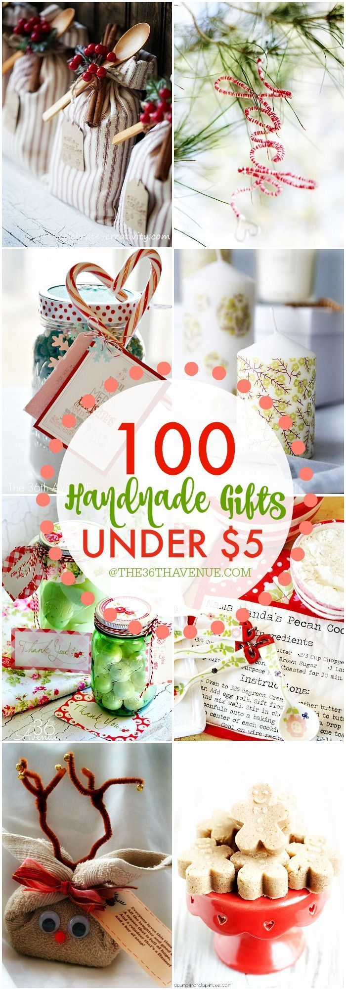 """On a budget, but still want to gift give? Over 100 Handmade Gifts that are perfect for Christmas gifts, birthday presents, and Mother's Day Gifts... These """"handmade gift ideas under five dollars"""" are super easy to make, adorable, and affordable!"""