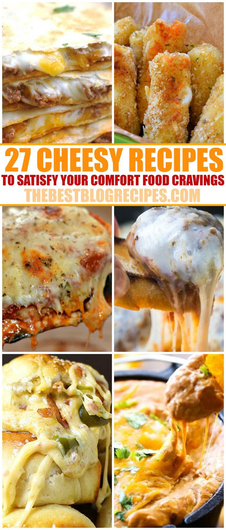 Calling all cheese lovers! We've rounded up some of our favorite cheesy recipes that will satisfy your biggest comfort food cravings. Mozzarella, ricotta, cheddar and more delicious cheeses make these recipes the ultimate meals!