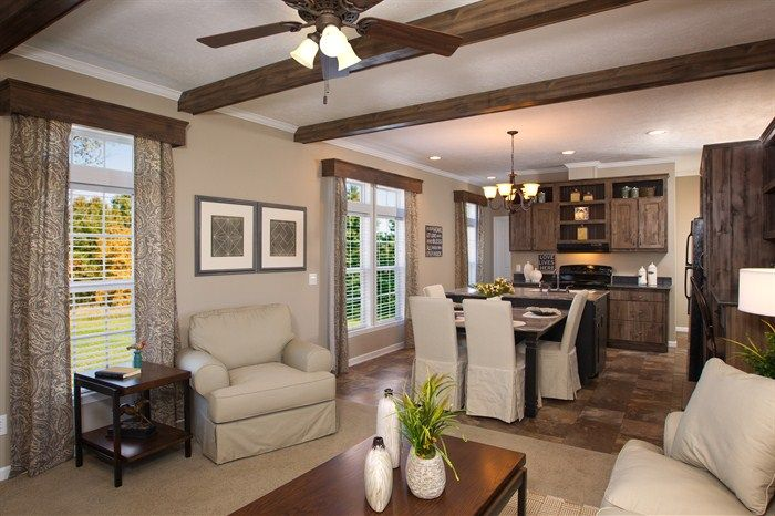 Faux beams and wooden window cornices