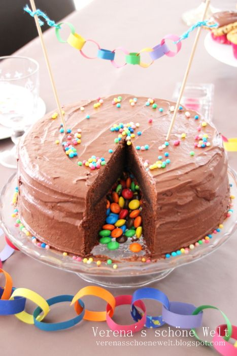 Verenas schöne Welt: Piñata Chocolate Cake for my Birthday girl