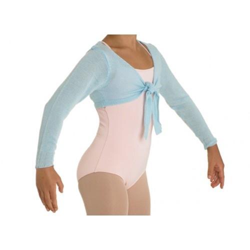 Bloch Hazel, Girl's bolero  Girl's crop tie front top  Fabric: 100% acrylic cashmere like yarn  Colours:Ballet Pink, Light Blue, Black  Price: 18.20€