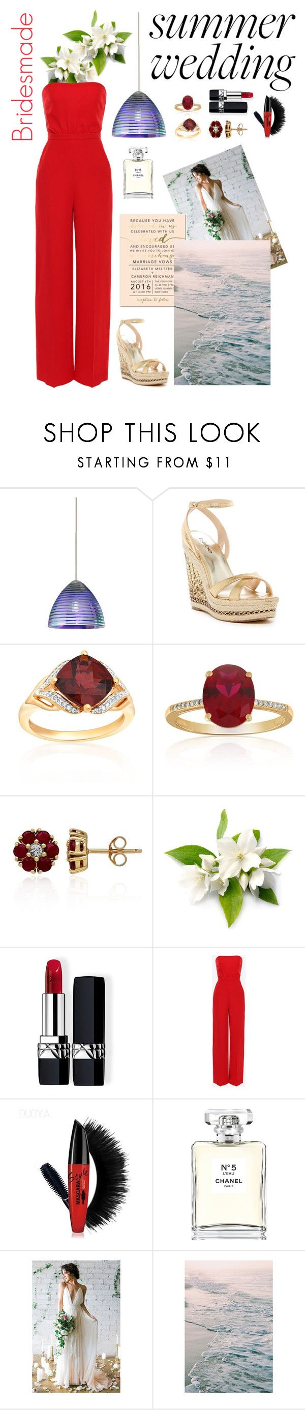 """""""Summer Wedding at the Beach"""" by apples-ed ❤ liked on Polyvore featuring Besa Lighting, Bebe, Belk & Co., Christian Dior, Valentino and Chanel"""