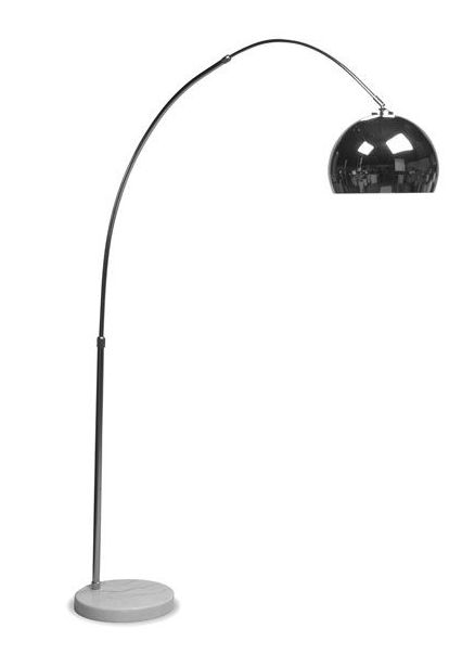 The arc floor lamp is a perfect combination of a classic contemporary and retro tendencies -- great for illuminating conversation or reading areas. | Arc Floor Lamp cort.com