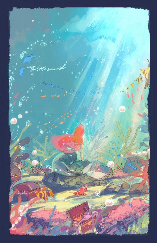 Ariel: Ariel, Disney Princesses, Pretty Colors, Mermaids Illustrations, Fans Art, Posters, The Little Mermaids, Fanart, The Sea