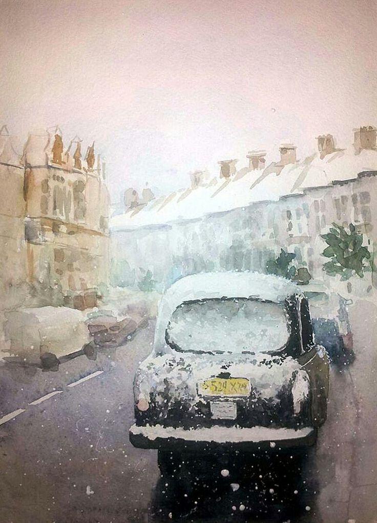 Car. watercolor