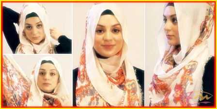 Tutorial Hijab Segi Empat Menutupi Dada Terbaru 2014   arenawanita.com