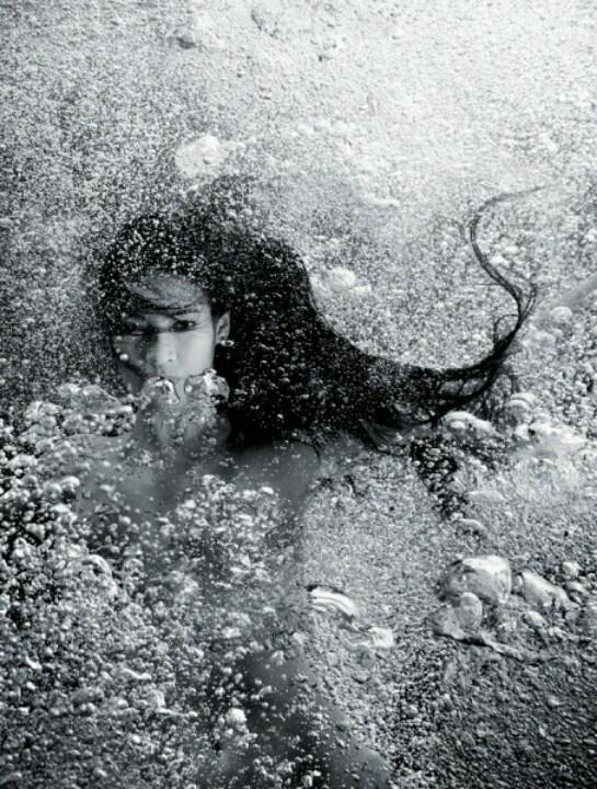 ♒ Meerjungfrauen unter uns ♒ Kunstfotografie & Gemälde von Seesirenen & Wassermädchen –