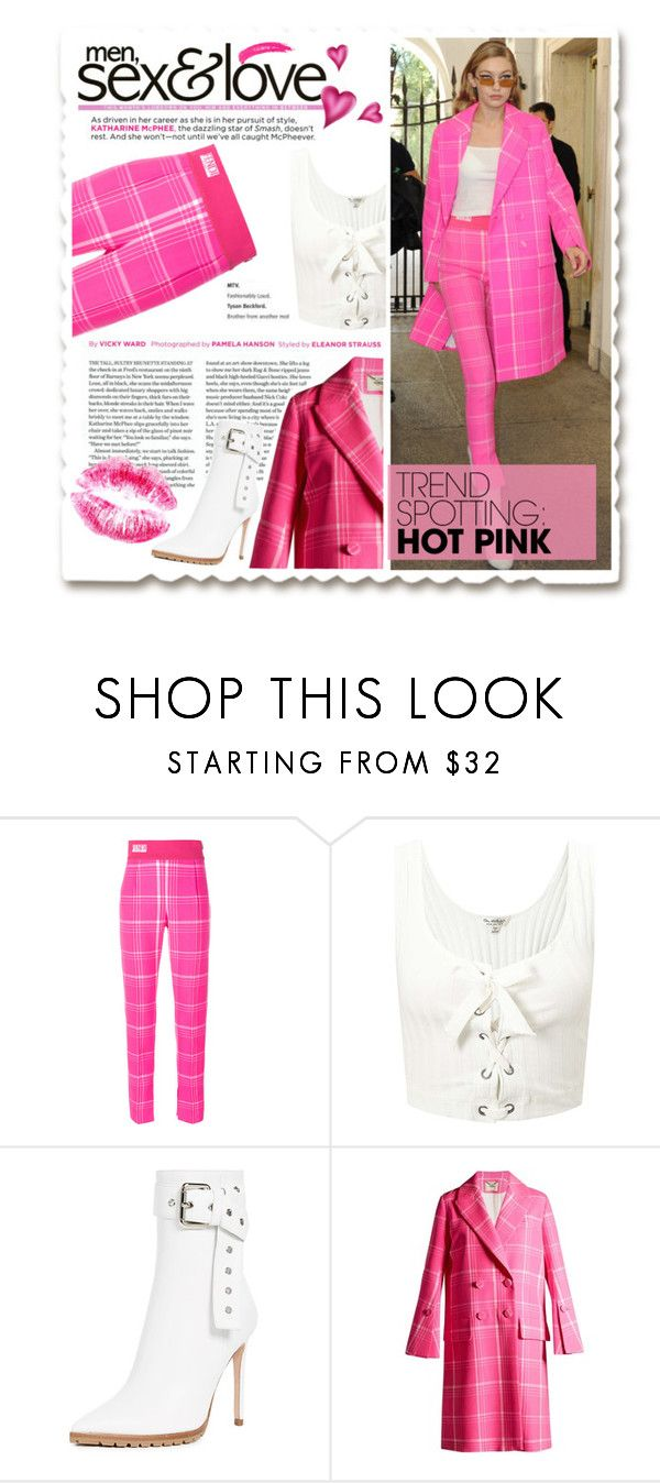 """""""NYFW : Hot Pink"""" by atikazahra on Polyvore featuring Fendi, Miss Selfridge, Monse, Topshop, contestentry and NYFWHotPink"""