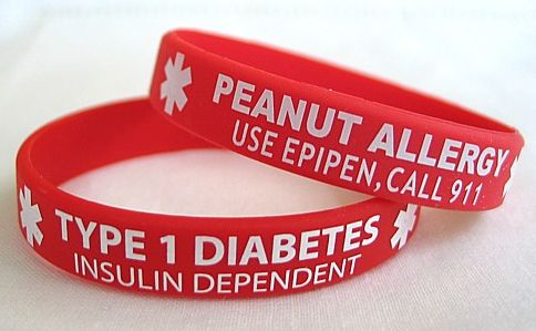 Stylish Medical Alert Rubber Bracelets - A Perfect Identification Accessory for Patients