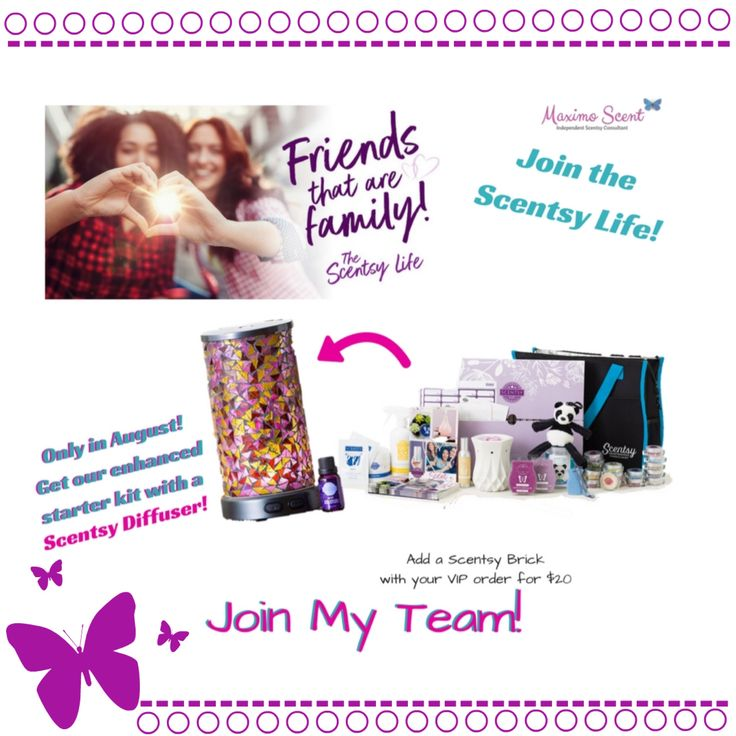 Do you want to be part of a special tribe, earn extra cash to pay for your kids activities, be able to support a cause by doing fundraisers or just get a discount for the products you love ❤️ ? Then now is the time to join the Scentsy life! For the first time ever, we are offering a Diffuser in our enhanced starter kit!!! In August you also get DOUBLE testers and catalogs! Don't wait!!!! And let's start the journey together Comment below for more details!!!