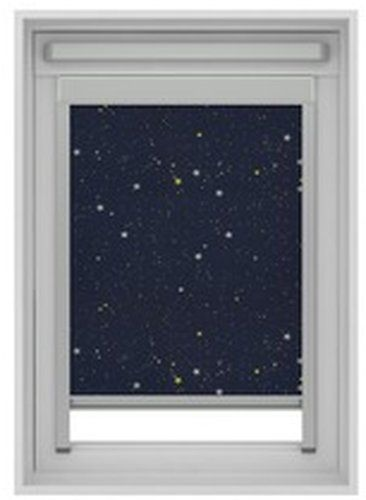 Gamma dakraam rolgordijn VELUX skylight new generation lichtdoorlatend 7006 donkerblauw ster 78x98 cm