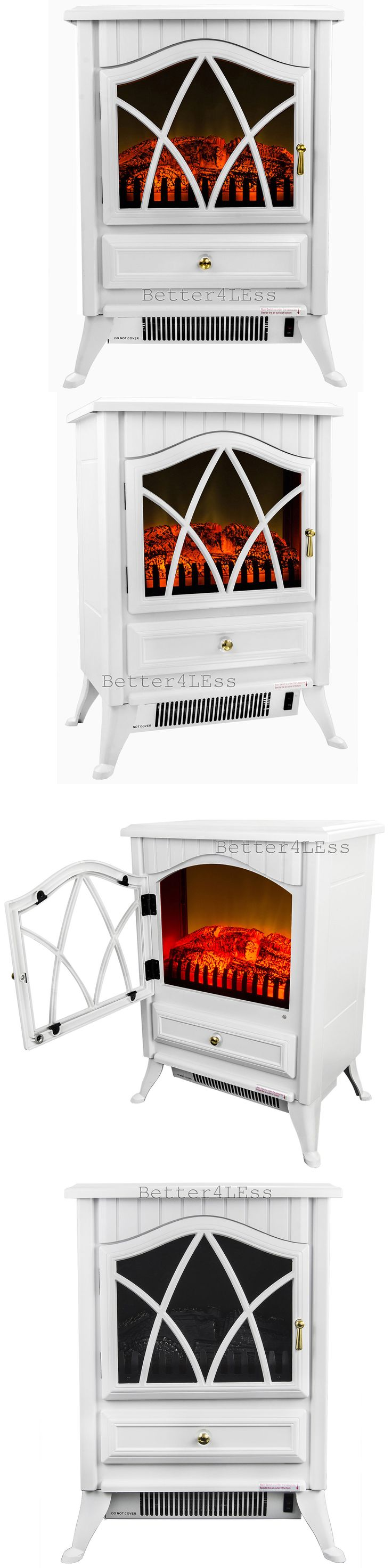 Fireplaces 175756: 16 1500W White Free Standing Portable Small Size Electric Fireplace Heater -> BUY IT NOW ONLY: $198.99 on eBay!