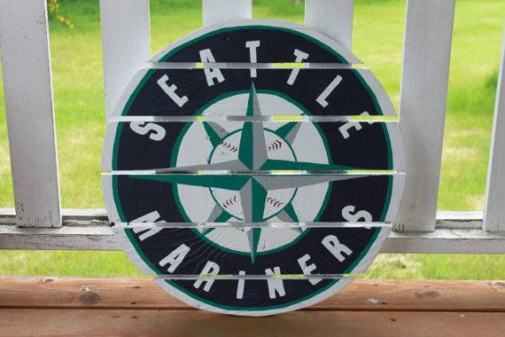 Seattle Mariners Baseball sign made from by MonicasFavThings