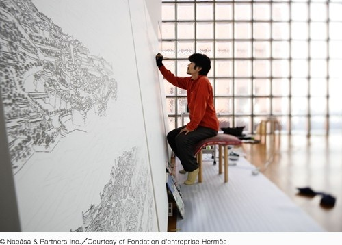 "@Maison ecologique HERMES  ""TOKIORE(I)MIX by YAMAGUCHI Akira""  Exhibition Period: February 11th (Saturday) – May 13th (Sunday), 2012  Mon–Sat 11:00–20:00 (Last entry 19:30); Sun 11:00–19:00 (Last entry18:30)  Open Daily, Free Admission  Venue: Maison Hermès 8th Floor Le Forum  (5-4-1 Ginza, Chuo-ku, Tokyo Japan TEL: +81-(0)3-3569-3300)  Sponsor: Fondation d'entreprise Hermès"