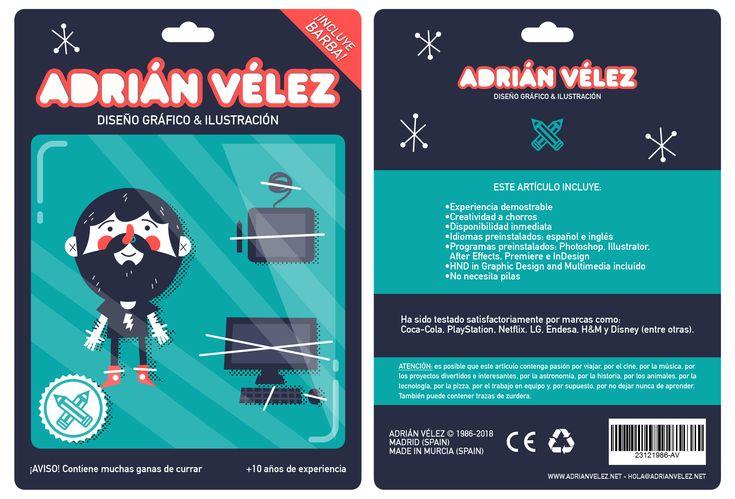 ¡Hola! Me llamo Adrián Vélez, soy diseñador gráfico e ilustrador y busco trabajo en Madrid.  Si quieres ver un ejemplo de lo que hago: http://www.adrianvelez.net  y si quieres contactar conmigo te espero en hola@adrianvelez.net 🙌
