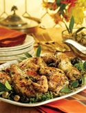 Chicken Marbella - I've been making this chicken dish for 16 years and I don't tire of it... This is the exact recipe I use but it's not a great picture of it. DELICIOUS and EASY!!!! Great for dinner parties because it looks like you've laboured in the kitchen all day, but you havn't!! :) I go for a cup of the olives though. Olives are gooood.