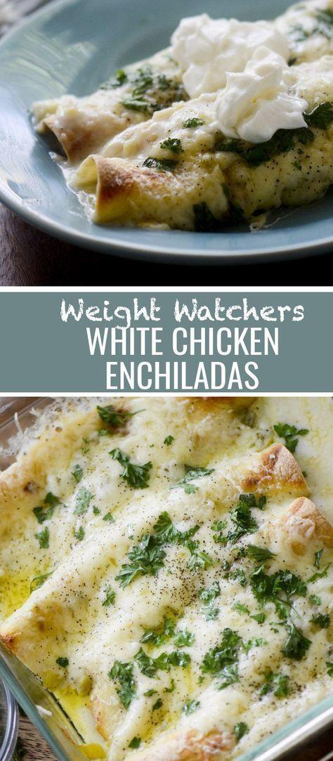 Weight Watchers White Chicken Enchiladas Recipe Diaries #weightwatchers #enchila…