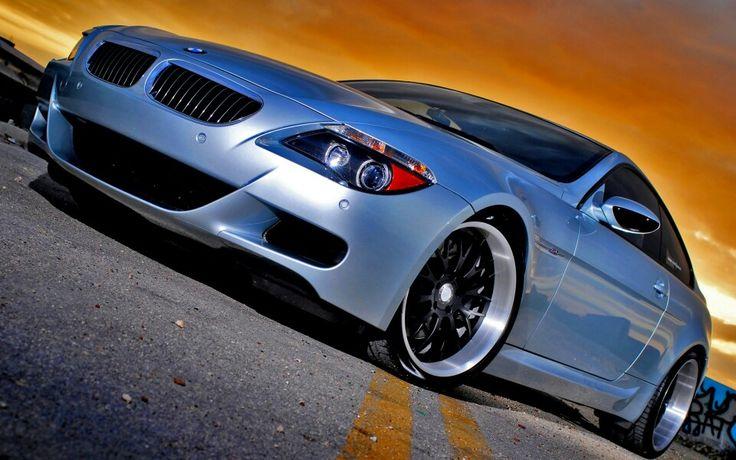 BMW E63 M6 silver deep dish