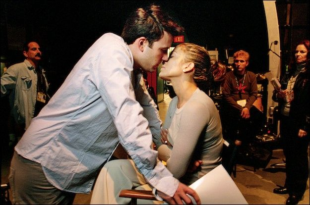 J Lo With Ben Affleck, backstage at the Oscars in 2003 (Art Streiber)