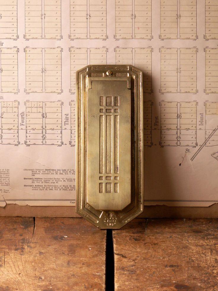 Vintage Vertical Brass Mail Slot Arts Amp Crafts Mission