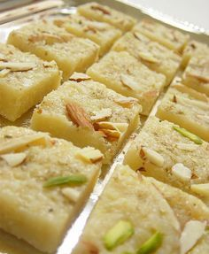 Coconut Halwa -- This is a sort of milk based fudge from South Asia. It is the best thing in the world. Trust me.