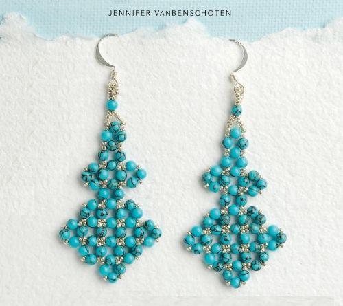 FREE Pattern for JENNIFER'S Earrings. Page 1/2. By Jennifer Vanbenchoten.