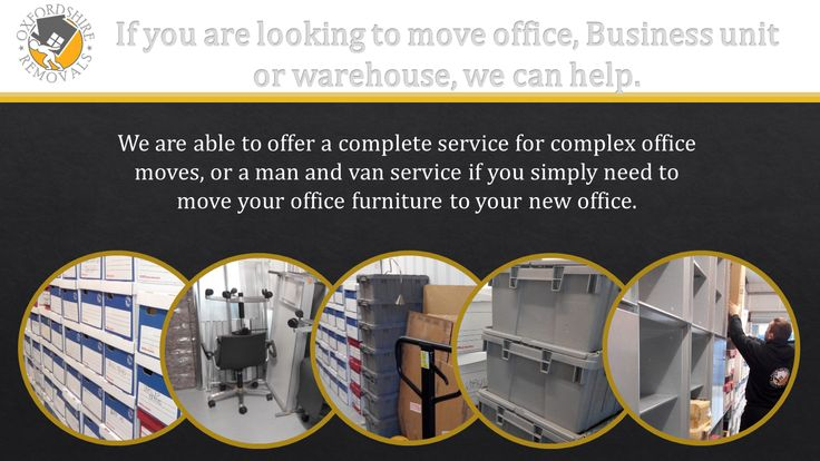 Oxfordshire Removals are able to offer a complete service for complex office moves, or a man and van service if you simply need to move your office furniture to your new office.