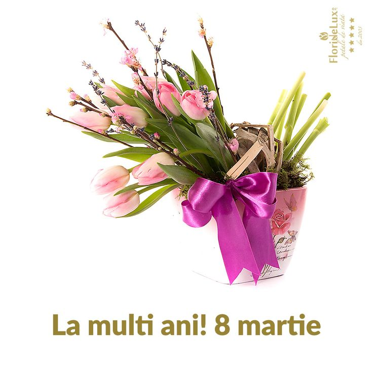 felicitari 8 martie, felicitare ziua femeii - La multi ani, 8 martie! https://www.floridelux.ro/flori-pentru-ocazii/flori-cadouri-sarbatori/flori-8-martie/
