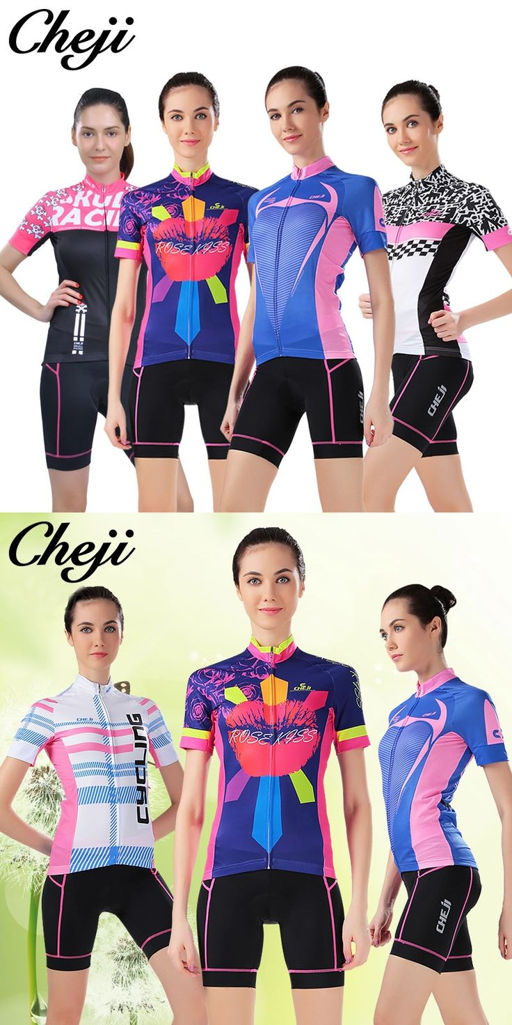Cheji Pro Cycling Jersey Short Sets for women  Bicycle tops summer lightweight breathable Riding gear mtb and road Bike Clothing