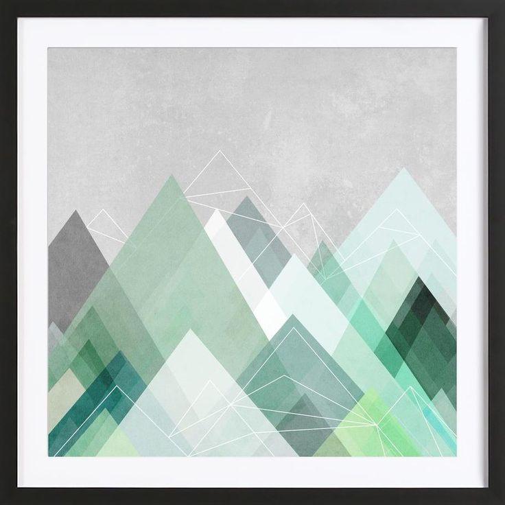 Mountain Graphic Design. Graphic 107 Art Print by Mareike Böhmer now on Juniqe.com | Art. Everywhere.