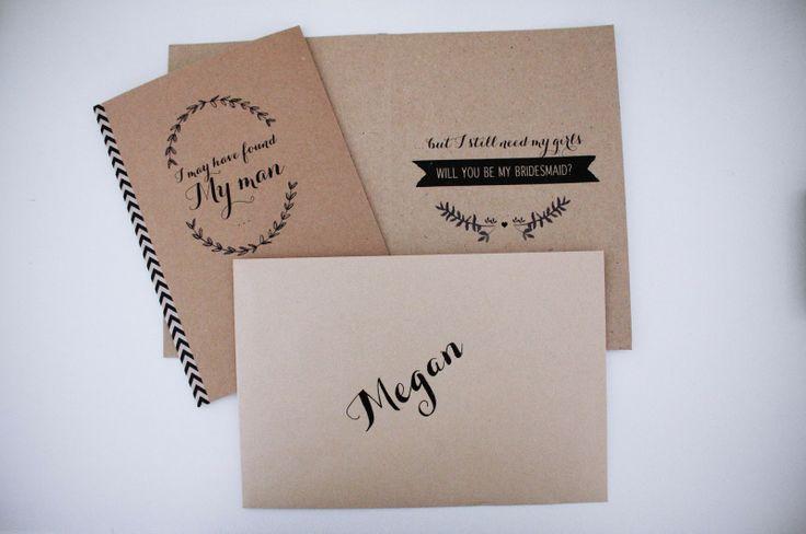 DIY Bridesmaid Cards  I may have found my man.. But I still need my girls