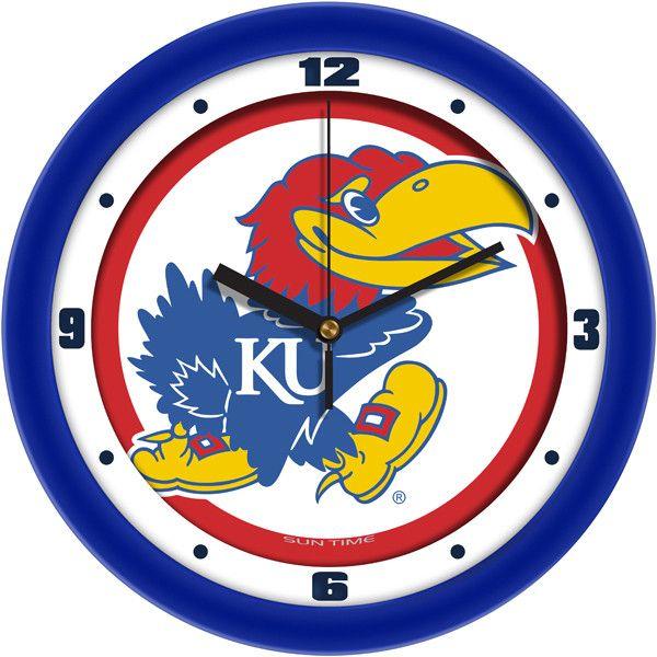 Kansas Jayhawks Traditional Wall Clock