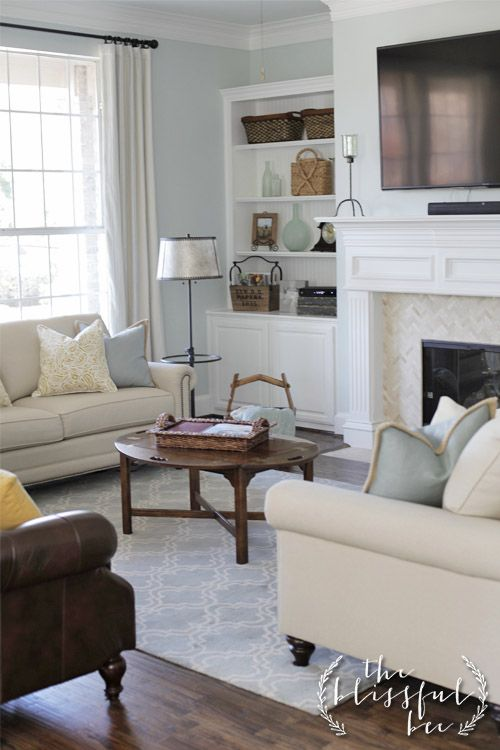 Favorite Paint Color Of The Month Blue Living Room