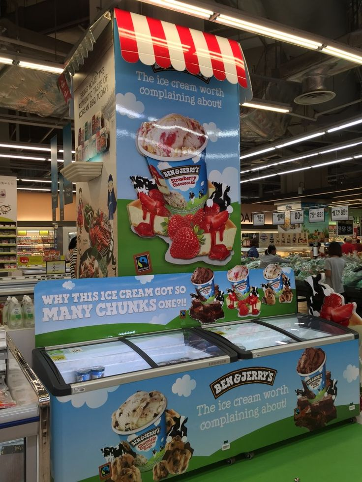 Ben & Jerry's Ice Cream Supermarket Pillar Display