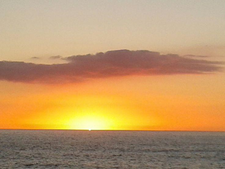 Preciosa puesta de sol en San Sebastián