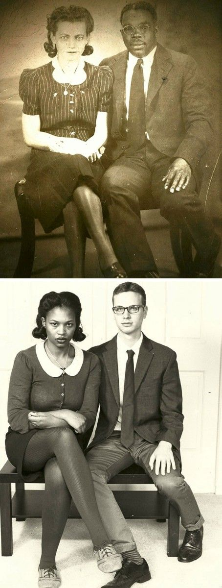 People Recreated Their Grandparents Photos 30 Photos