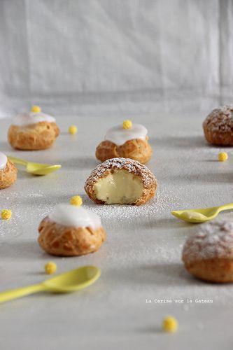 Choux craquelins au lemon curd & petits choux glacés à la vanille
