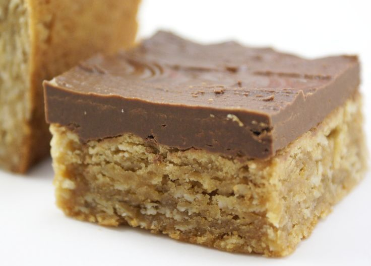 Oatmeal Peanut Butter Bars with Chocolate Frosting