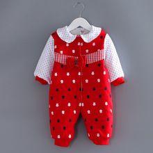 Nuevo 2016 ropa bebé recién nacido algodón jumpsuit girls niños otoño invierno mamelucos largos de la manga traje del bebé enredaderas(China (Mainland))