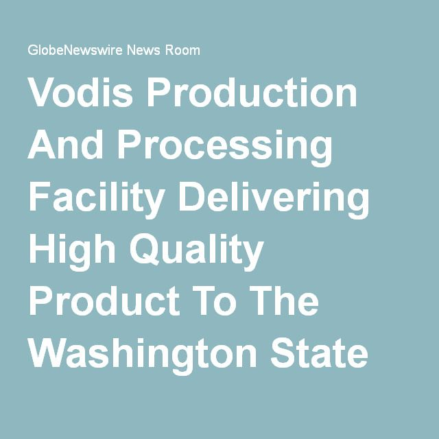 Vodis Production And Processing Facility Delivering High Quality Product To The Washington State Market; Repetitive Production Of Recreational Marijuana Is In Full Cycle Canadian Stock Exchange:VP