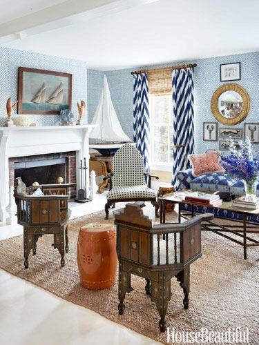 A Maine Summer House Living Room Design John Knott And Fondas