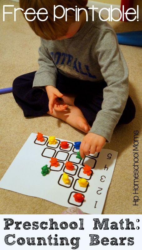 Preschool Math with Counting Bears {Free Printable!} - Hip Homeschool Moms