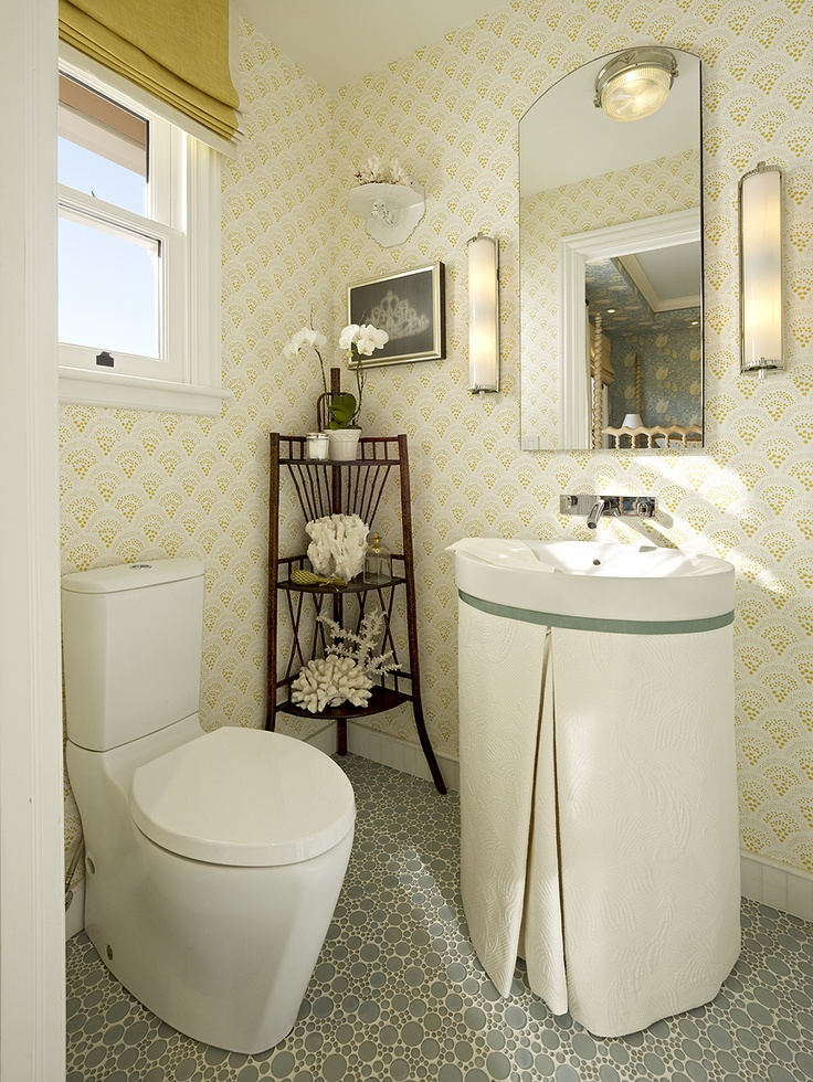 guest bathroom love the bubble floor tile