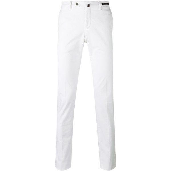 Pt01 super slim fit chinos ($236) ❤ liked on Polyvore featuring men's fashion, men's clothing, men's pants, men's casual pants, white, mens chinos pants, mens white pants, mens white chino pants, mens slim fit pants and mens slim pants