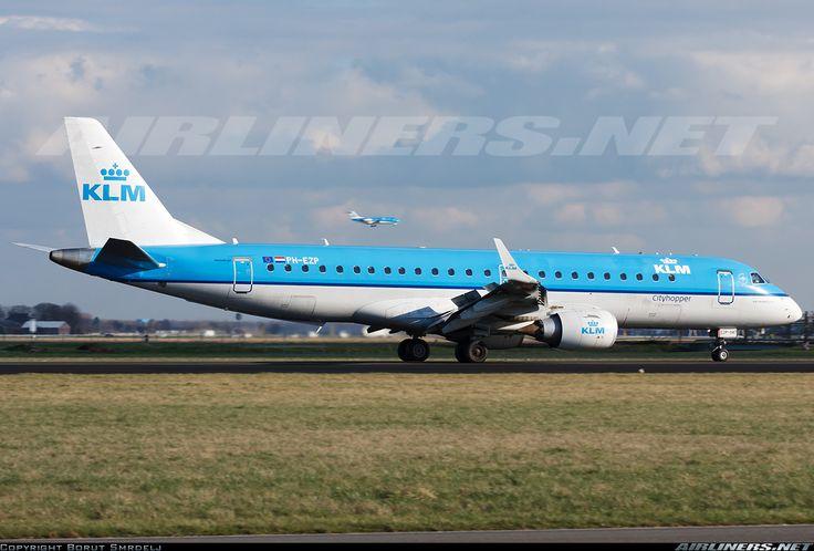 Embraer ERJ-190STD, KLM Cityhopper, PH-EZP, cn 19000347, KLM Cityhopper delivered 1.4.2010. His last flight 8.5.2016 Amsterdam - Geneva. Foto: Amsterdam, Netherlands, 19.2.2016.