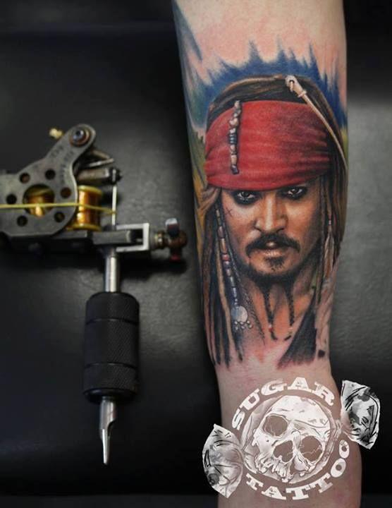 Jack Sparrow Tattoo By Tom Sugar Tomasz Cukrowski