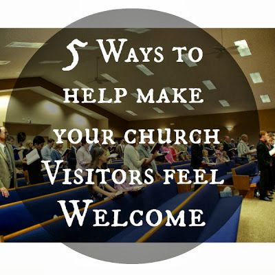 Church Visitors should always feel Welcome! Pin now, read later! Rays of Sunshine for Christ: 5 Ways to Help Make your Church Visitors feel Welcome Blog Post. There are some great tips on here Members of a church should read and know!