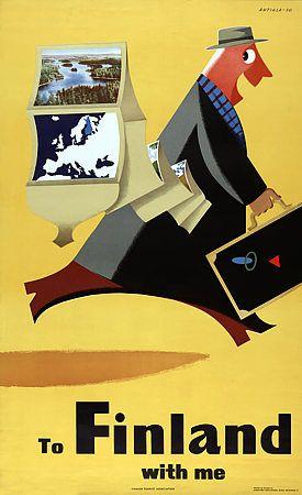 Finland Suomi Vintage Travel Posters Art Prints